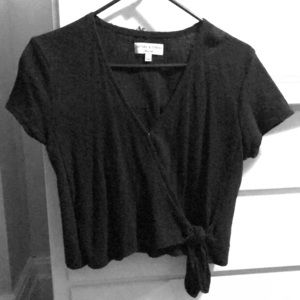 Madewell Texture and Thread Tie Shirt